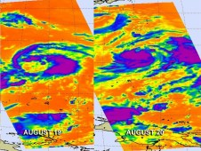 NASA's Aqua satellite has been monitoring Tropical Storm Bolaven in the western North Pacific from Aug 19-20.