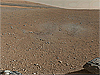 View of the Martian landscape taken by the Curiosity rover