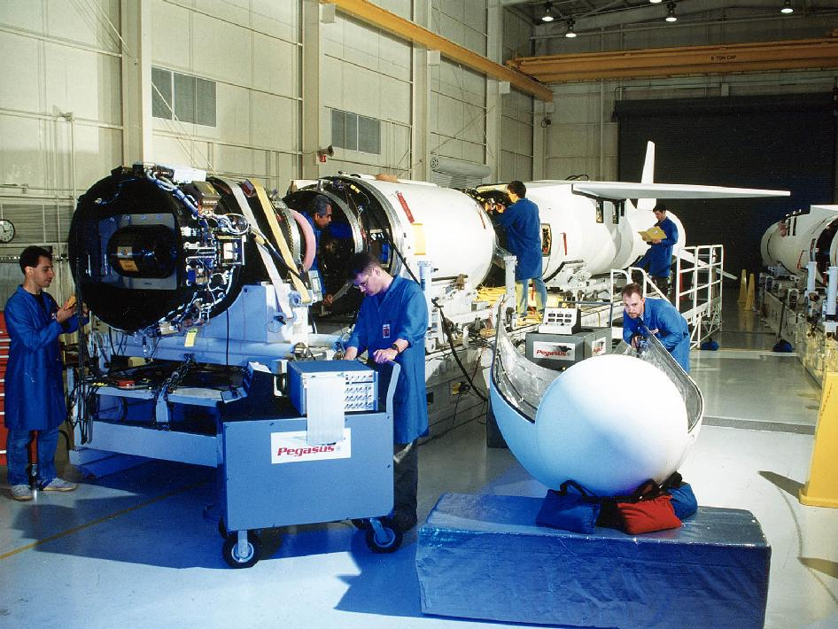 Payload integration with the Pegasus rocket.