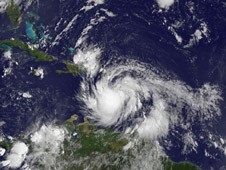 satellite image of Isaac