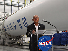 NASA Administrator Charles Bolden Thursday announced new milestones in the nation's commercial space initiatives from Cape Canaveral Air Force Station near the agency's Kennedy Space Center in Florida. Photo credit: NASA