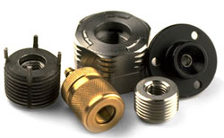 ZipNuts are shown in a variety of sizes and materials.