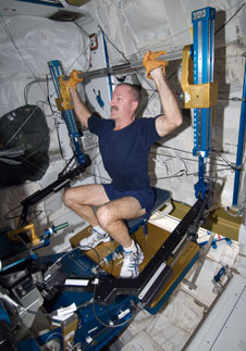 ISS030-E-033043: NASA astronaut Dan Burbank using ARED