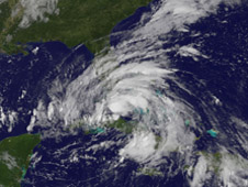 GOES image of Isaac