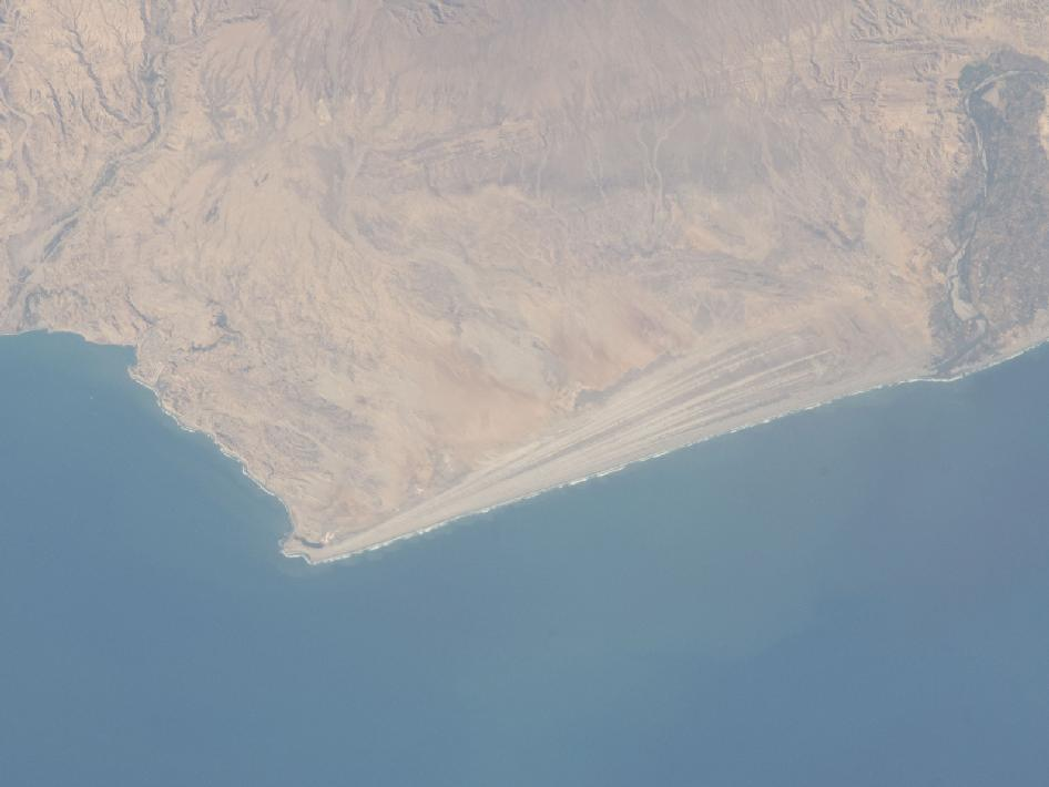 A strandplain on coastal Peru