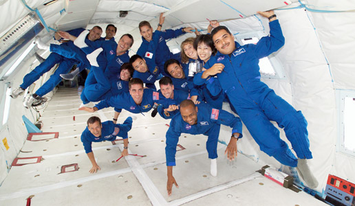 astronauts on KC-135A