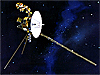 Artist concept of the Voyager spacecraft in space