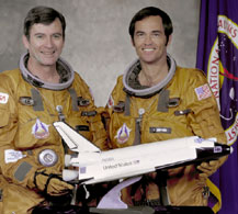Young and Robert Crippen, crew of STS-1