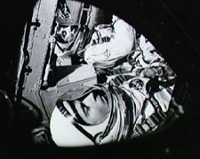 Young with Gus Grissom in Gemini 3