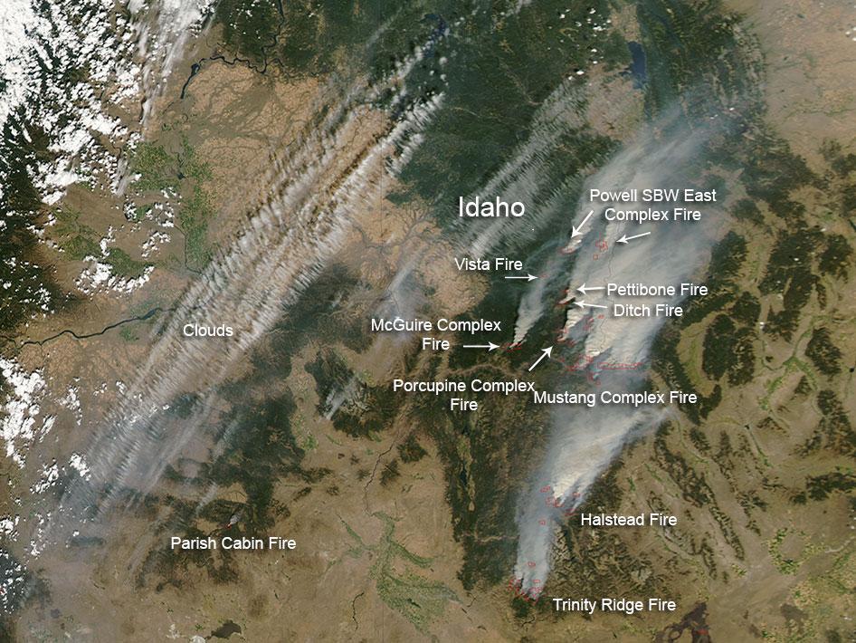 nasa wildfires continue to plague idaho