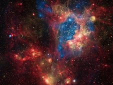 A superbubble in the Large Magellanic Cloud, a small satellite galaxy of the Milky Way