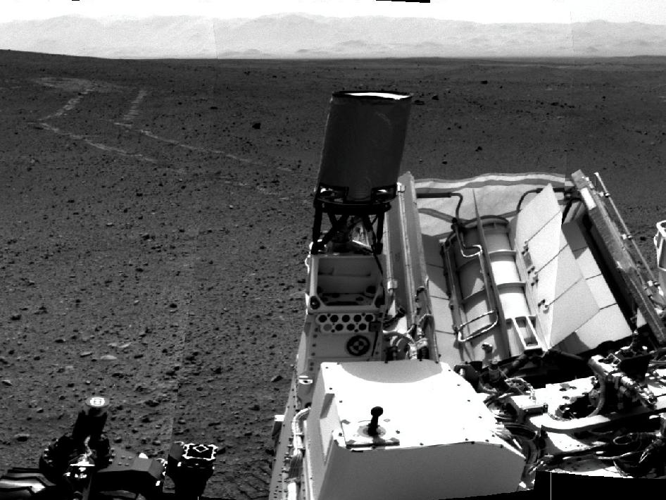 Curiosity took images with its Navigation Camera