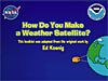 Front page of the How Do You Make a Weather Satellite? booklet