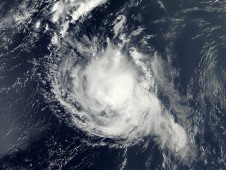 MODIS captured this visible image of Kirk on Aug. 31 when Kirk was still a hurricane in the Atlantic Ocean.
