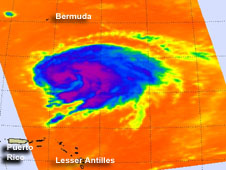 AIRS image of Leslie