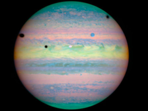 Hubble photo of triple eclipse on Jupiter