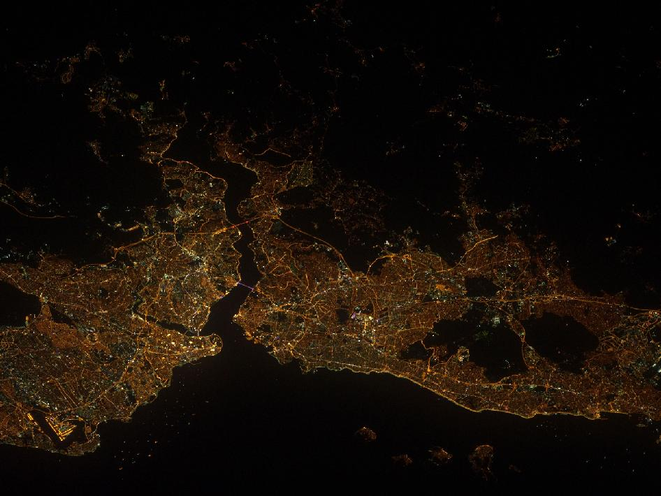 Nighttime View of Istanbul, Turkey