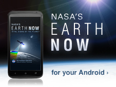 NASA's Earth Now ad for the Android
