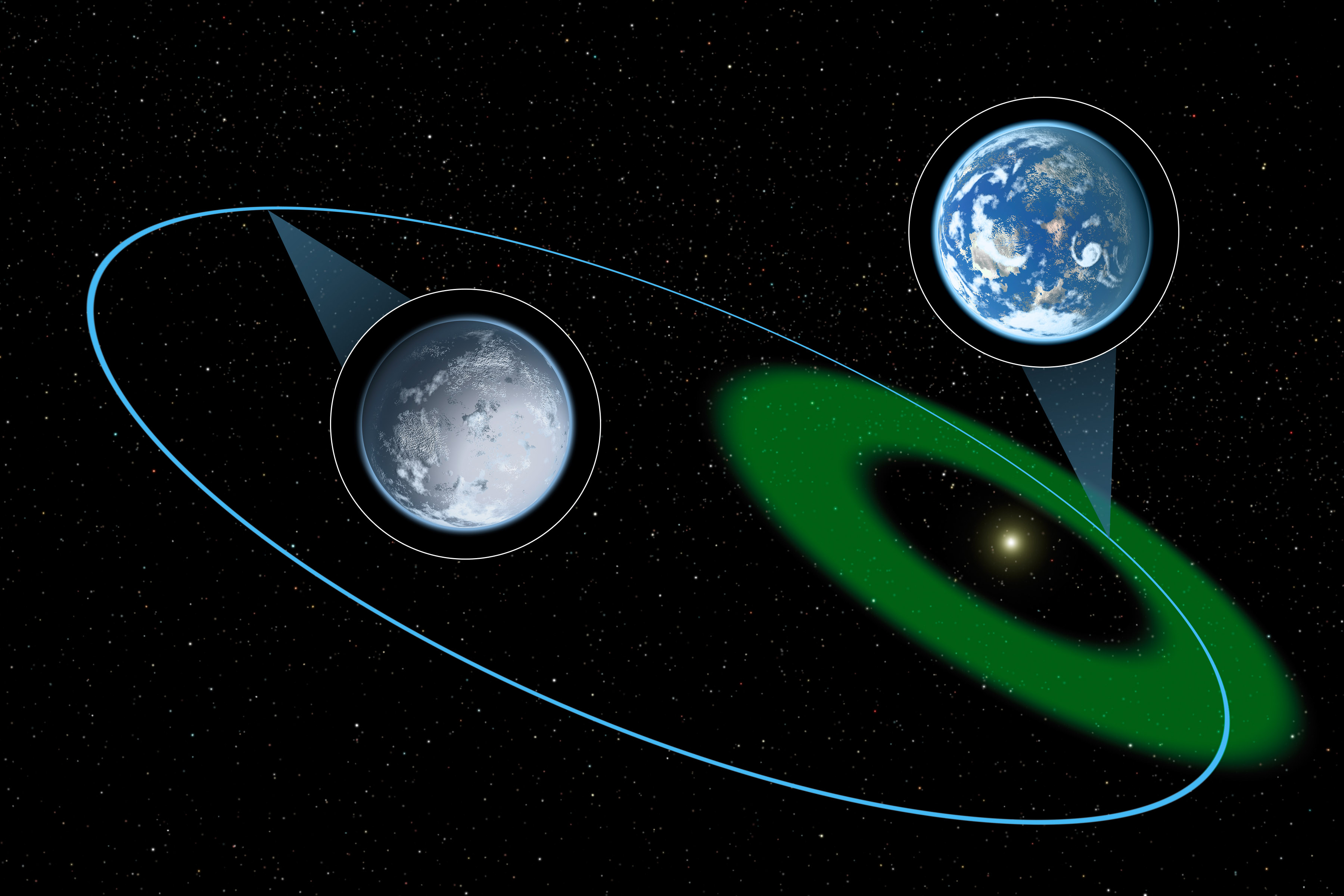 Hypothetical Planet Is Depicted Here Moving Through The Habitable Zone