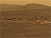 View of the Mars surface from the Mars Curiosity rover