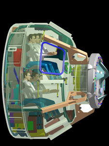 Boeing's design concept of the CST-100 interior