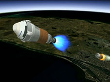 Boeing's CST-100 separating from the Atlas V rocket's first stage