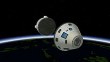 Boeing's CST-100 crew capsule jettisons its service module before re-entry