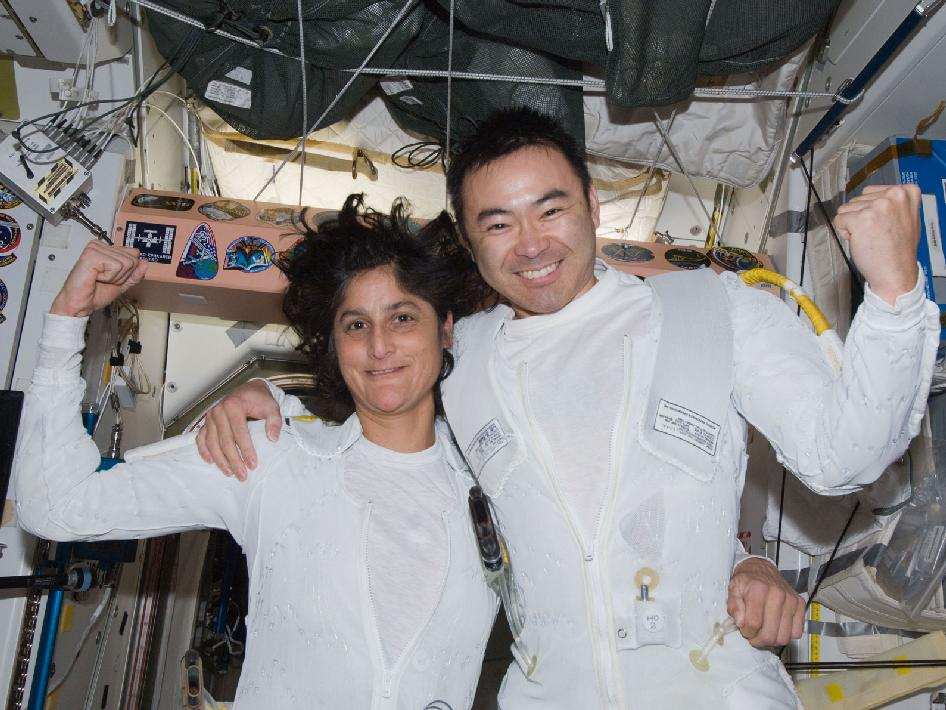 Flight Engineers Sunita Williams and Akihiko Hoshide