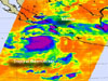infrared image of tropical storm Kristy off Mexico