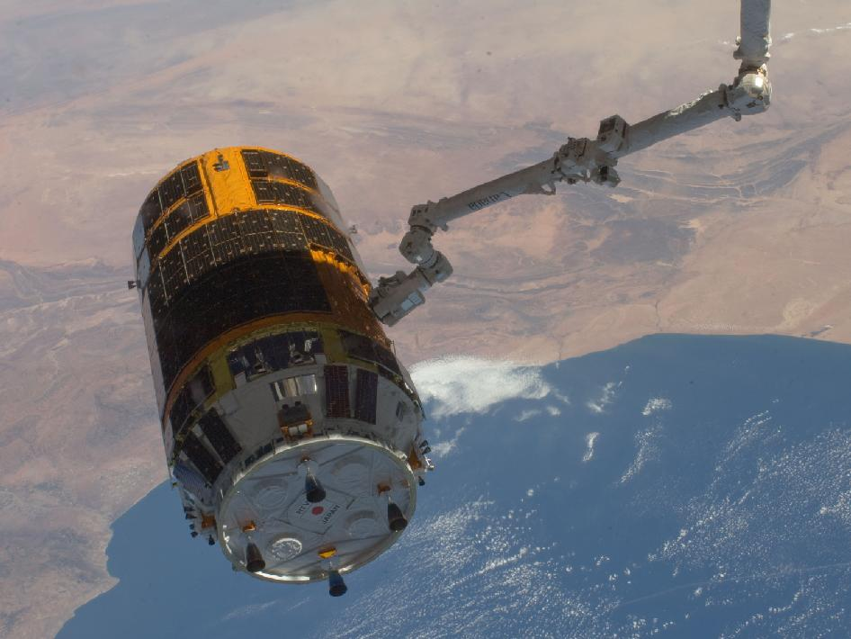 HTV-3 and the coast of Morocco