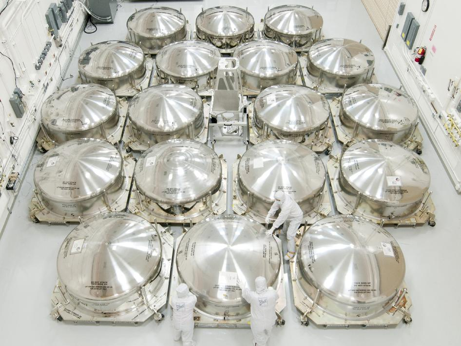 James Webb Space Telescope Mirror 'Cans'