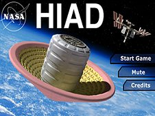 The main screen of the Hypersonic Inflatable Aerodynamic Decelerator, or HIAD, app. (Credit: NASA)
