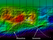 Hydrogen map of Vesta