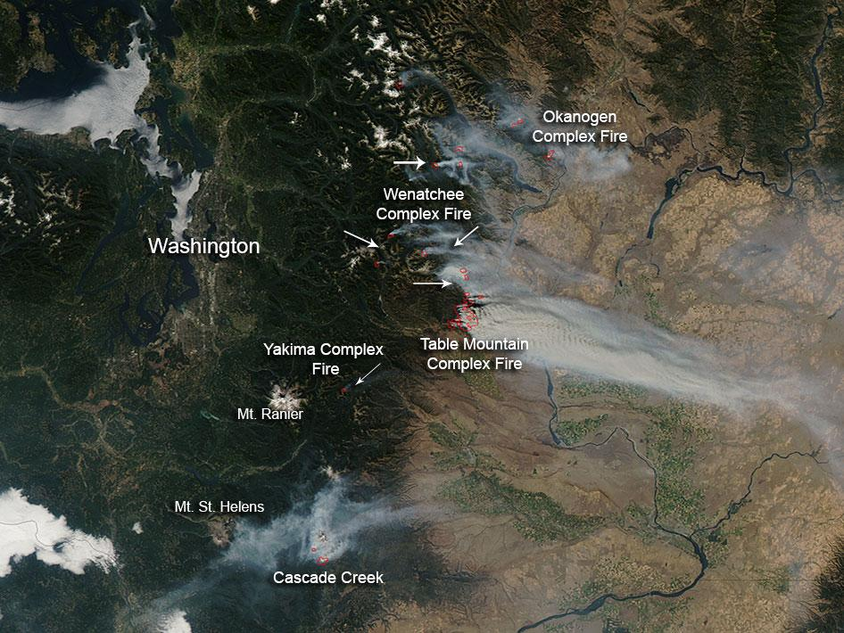 NASA   Wildfires in Washington State