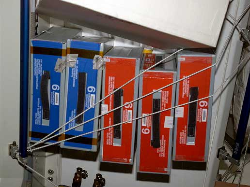 Food storage containers on the Station