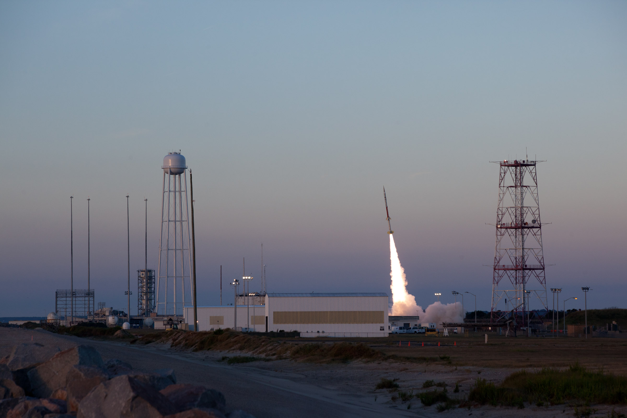 RockSat-X launches from NASA's Wallops Flight Facility, Va., Sept. 21.