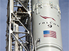 The Space Exploration Technologies, or SpaceX, Falcon 9 rocket is in position for a wet dress rehearsal at Space Launch Complex 40 at Cape Canaveral Air Force Station in Florida.