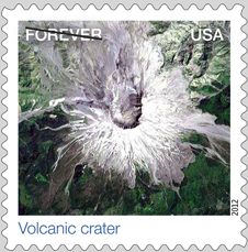 Volcanic Crater stamp