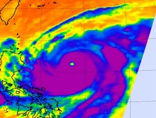 AIRS captured this infrared image of Super Typhoon Jelawat on Sept. 25 at 1:23 p.m. EDT.