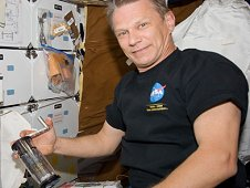 Astronaut Piers Sellers, Mission Specialist on STS-132 activating