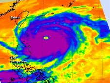 AIRS data of Super Typhoon Jelawat on Sept. 27 as the storm moves away from the northern Philippines.