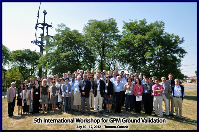 Group photo of the 5th international Ground Validation conference