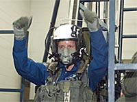 Shannon Walker during survival training