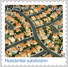 Residential Subdivision stamp