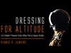 Cover of the Dressing for Altitude Book of a pilot of astronaut wearing a pressure suit.