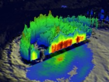 TRMM satellite data from Sept. 30 were used to make this 3-D view of Nadine from the northeast.