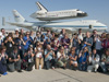 Tweeting, posting, clicking and texting were the order of the day for fans of NASA's social media accounts during the NASA Social held in connection with the stopover of space shuttle Endeavour atop NASA's Shuttle Carrier Aircraft at NASA's Dryden Flight Research Center Sept. 19-21.