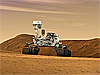 Artist concept of Curiosity rover on Mars