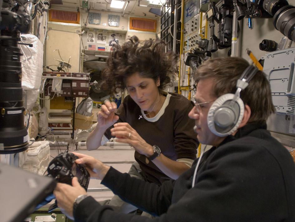 Sunita Williams and Yuri Malenchenko