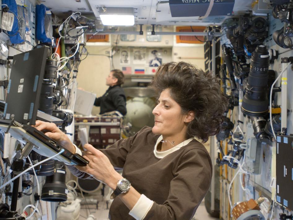 NASA - Sunita Williams and Yuri Malenchenko